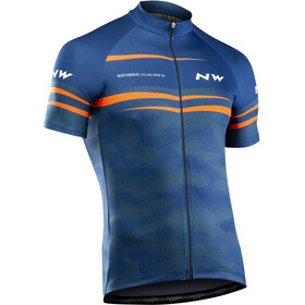 Northwave Origin Short Sleeve Jersey Men blue/orange